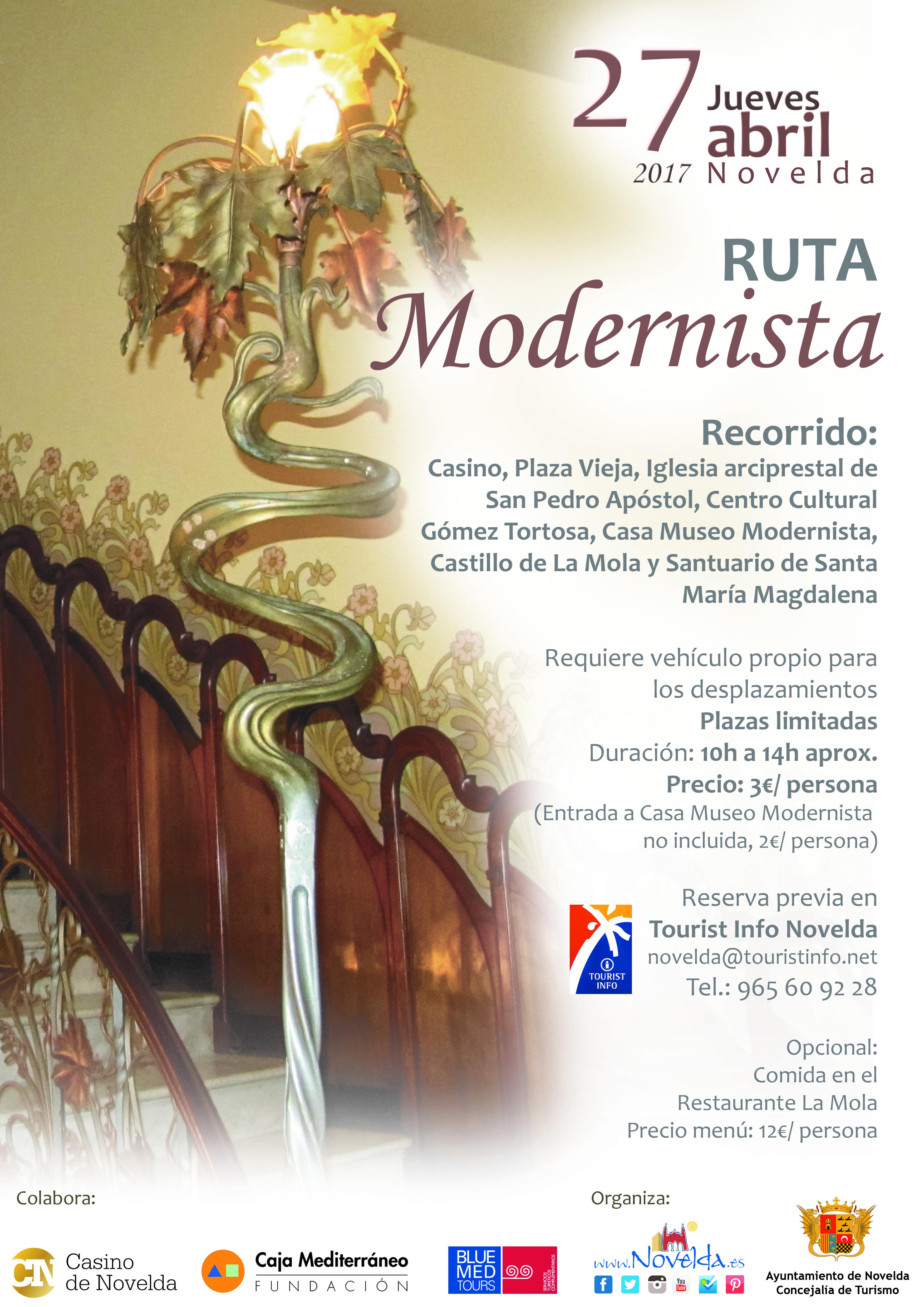 Ruta modernista Novelda abril Santa Faz