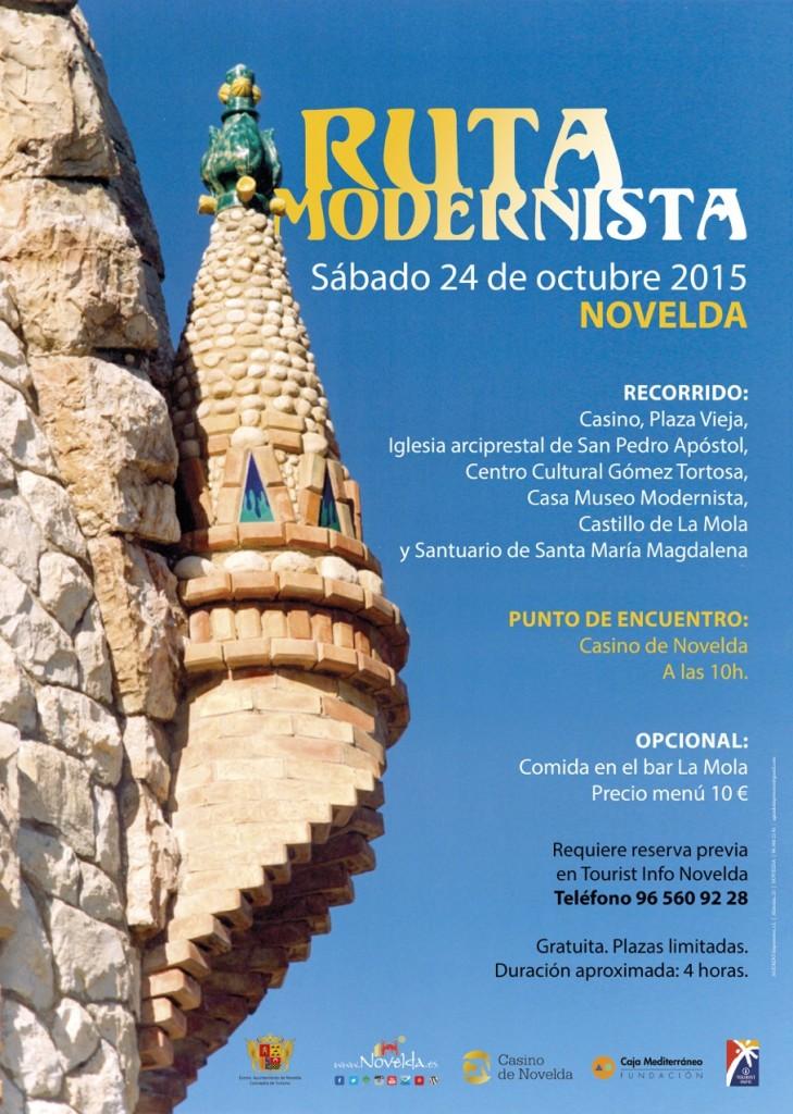 cartel ruta modernista castellano