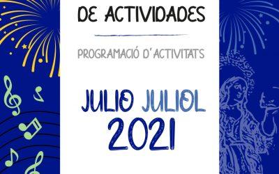 Programa de actividades julio 2021