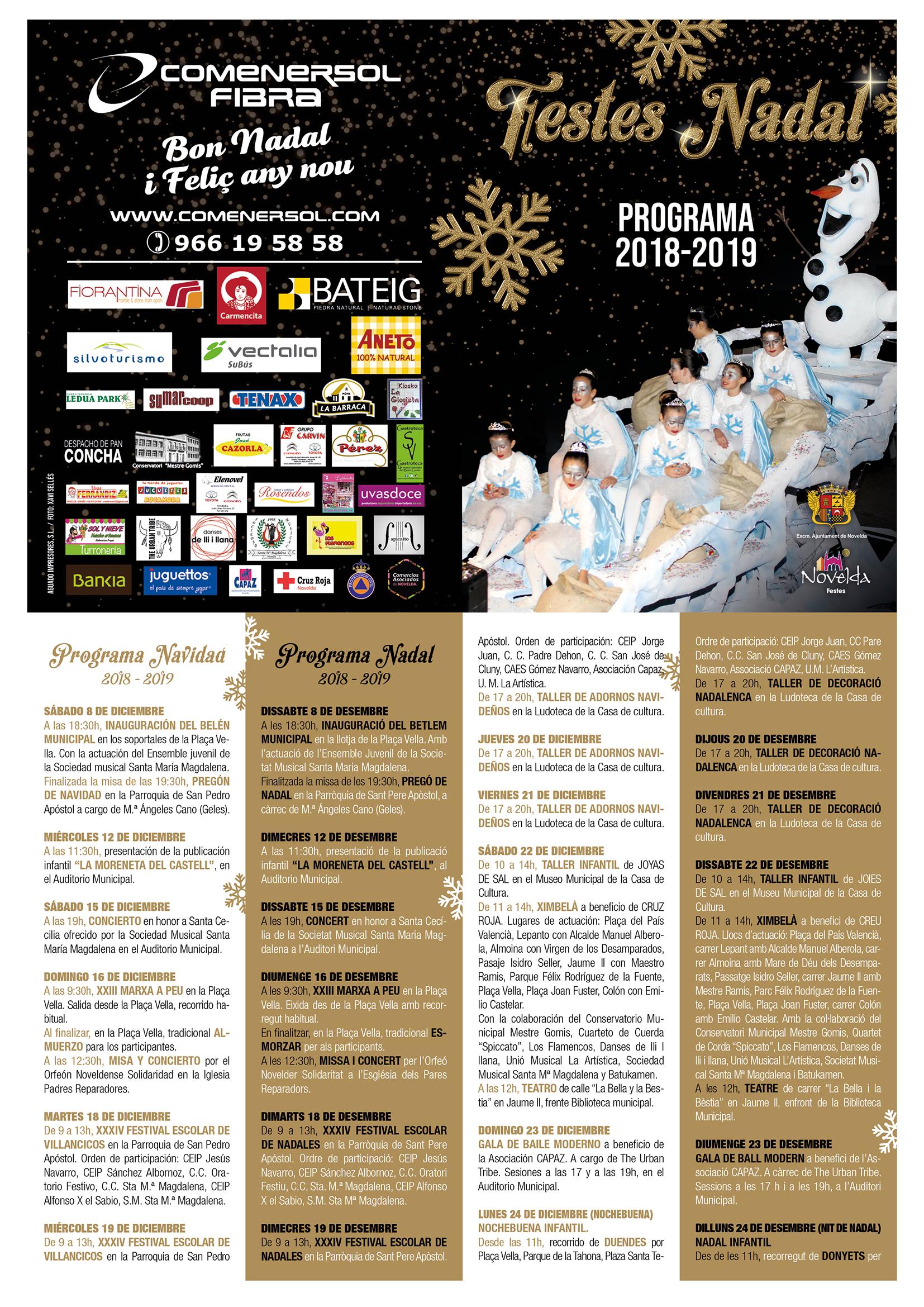 programa navidades 2018-19 Novelda portada