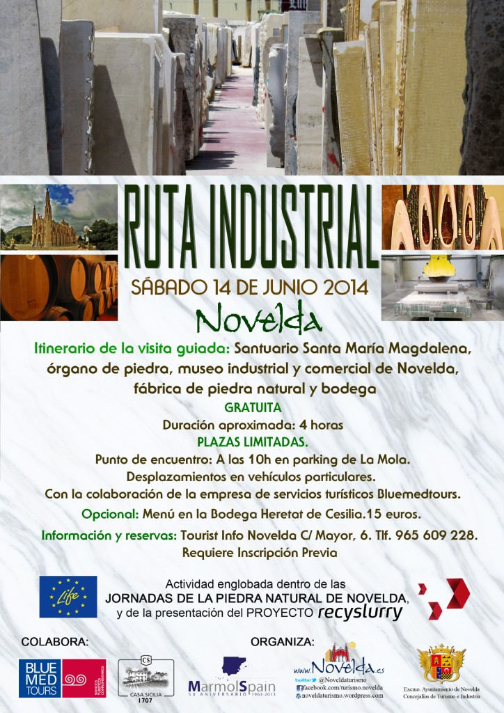 ruta industrial web junio 2014 Novelda, Costa Blanca, Alicante, Comunidad Valenciana